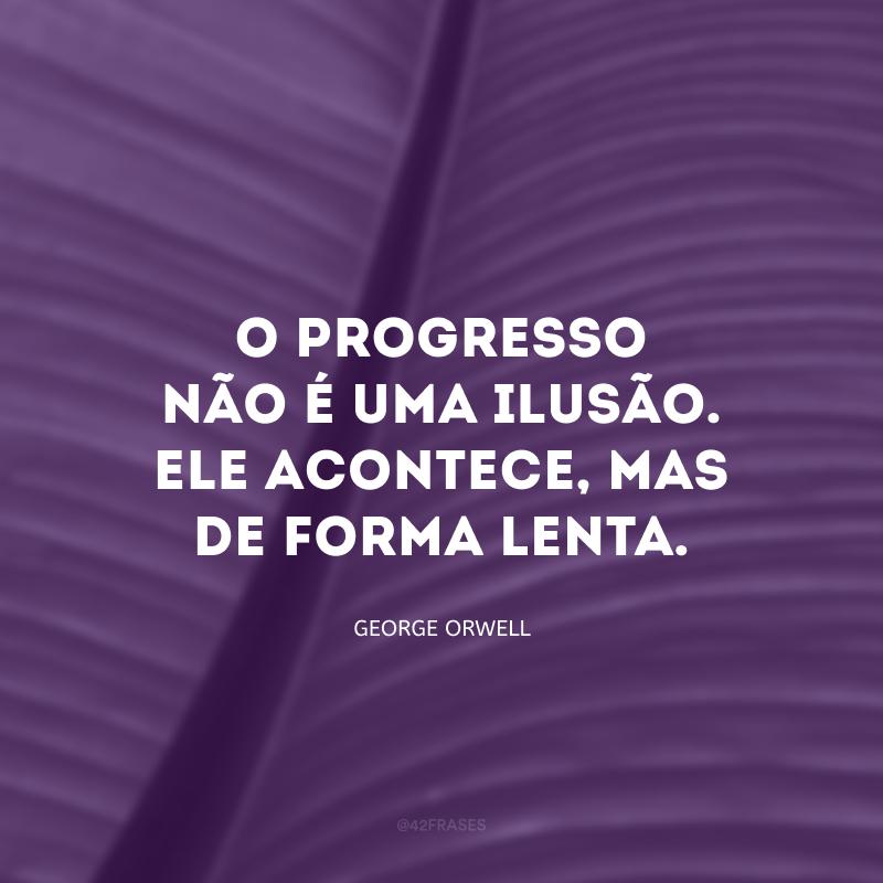 O progresso não é uma ilusão. Ele acontece, mas de forma lenta. E, invariavelmente, termina nos desapontando.