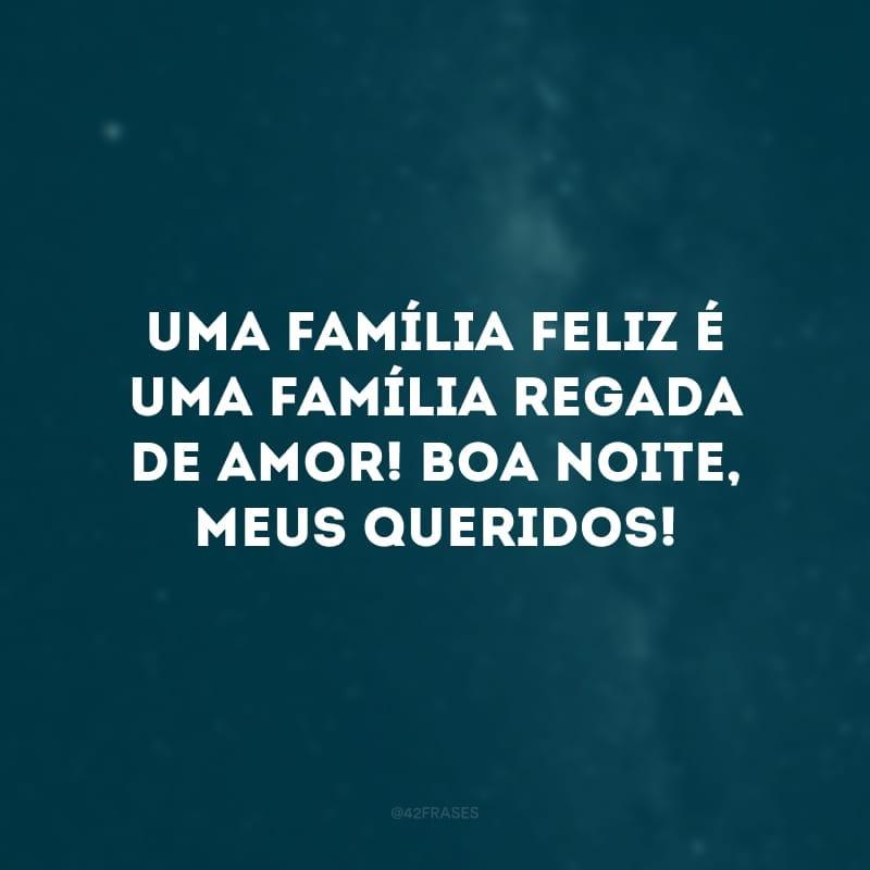 Uma família feliz é uma família regada de amor! Boa noite, meus queridos!