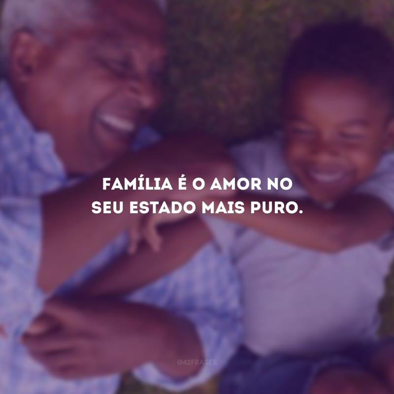 Família é o amor no seu estado mais puro.
