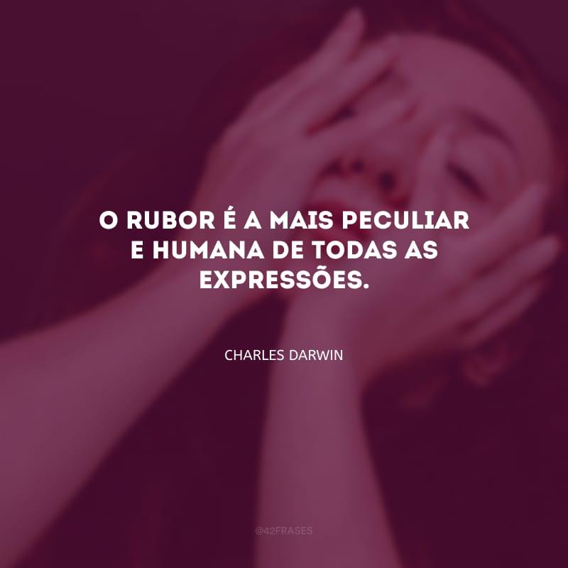 O rubor é a mais peculiar e humana de todas as expressões.