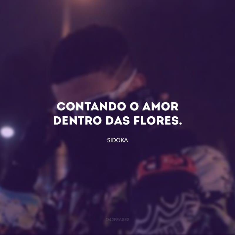 Contando o amor dentro das flores.