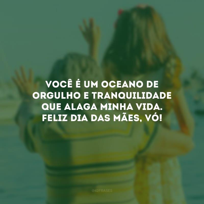 Você é um oceano de orgulho e tranquilidade que alaga minha vida. Feliz Dia das Mães, vó!