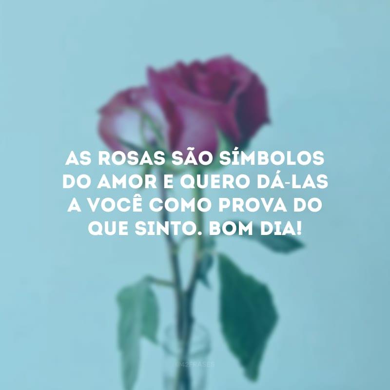 As rosas são símbolos do amor e quero dá-las a você como prova do que sinto. Bom dia!