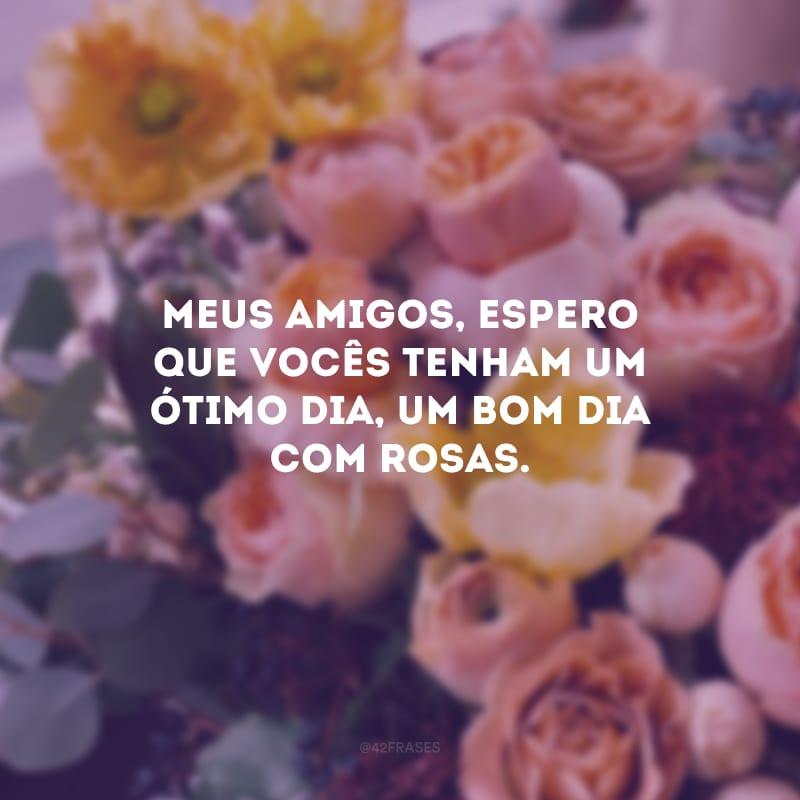 Meus amigos, espero que vocês tenham um ótimo dia, um bom dia com rosas.
